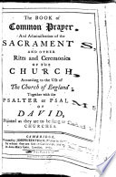 Book of Common Prayer, and Administration of the Sacraments and Other Rites and Ceremonies of the Church