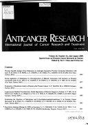 Anticancer Research Book