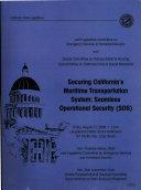 Securing California s Maritime Transportation System