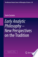 Early Analytic Philosophy   New Perspectives on the Tradition