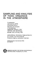 Sampling and Analysis of Toxic Organics in the Atmosphere Book