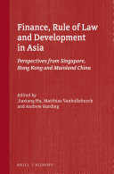 Finance, Rule of Law and Development in Asia