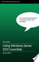Using Windows Server Essentials 2012 Book