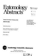 Entomology Abstracts
