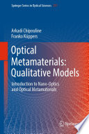 Optical Metamaterials  Qualitative Models Book