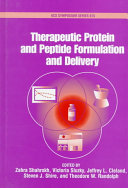 Therapeutic Protein and Peptide Formulation and Delivery Book