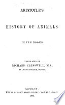 Aristotle's History of Animals. In ten books. Translated by Richard Creswell