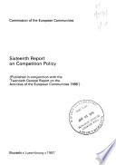 Sixteenth Report on Competition Policy