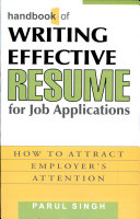 Handbook of Writing Effective Resume for Job Applications