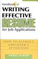 Handbook of Writing Effective Resume for Job Applications