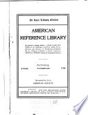 American Reference Library  Encyclopedic dictionary of American reference  by J F  Jameson and J W  Buel