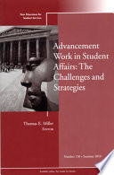 Advancement Work in Student Affairs  The Challenges and Strategies Book