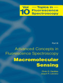 Advanced Concepts in Fluorescence Sensing Book