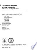 Construction Materials for Coal Conversion Book