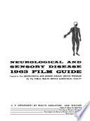 Neurological and Sensory Disease: Film Guide, 1963