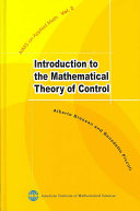 Introduction to the Mathematical Theory of Control