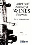 Larousse Dictionary of Wines of the World