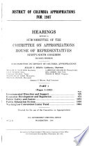 District of Columbia appropriations for 1987