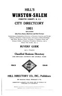 Walsh's Winston-Salem, North Carolina, City Directory ...