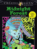 Creative Haven Midnight Forest Coloring Book