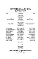 Southern California Law Review