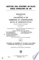 Agriculture, Rural Development, and Related Agencies Appropriations for 1980: Testimony of members of Congress and other interested individuals and organizations