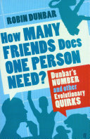 Pdf How Many Friends Does One Person Need?