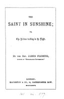 The saint in sunshine; or, The believer walking in the light
