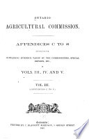Report of the Commissioners [and Appendices A to S]