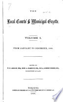 The Local Courts  and Municipal Gazette