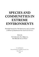 Species and Communities in Extreme Environments