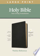 NLT Large Print Thinline Reference Bible  Filament Enabled Edition  Red Letter  Genuine Leather  Black