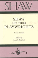 Pdf Shaw and Other Playwrights