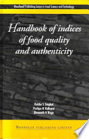 Handbook of Indices of Food Quality and Authenticity