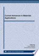 Current Advances in Materials Applications