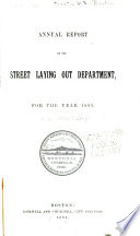 Annual Report  of the Street Commissioners on the Department