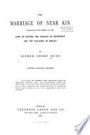 The Marriage of Near Kin Considered with Respect to the Laws of Nations