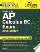 Cracking the AP Calculus BC Exam  2016 Edition