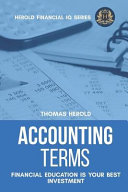 Accounting Terms - Financial Education Is Your Best Investment