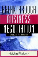Pdf Breakthrough Business Negotiation Telecharger