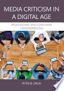 Media Criticism In A Digital Age