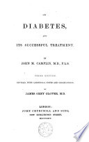 On Diabetes  and Its Successful Treatment Book