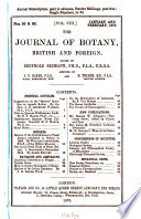 The Journal of Botany  British and Foreign