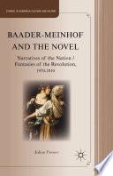 Baader Meinhof and the Novel