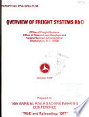 Overview of freight systems R D  Book