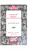 Waverley Novels  The betrothed  Chronicles of the Canongate  The highland widow  The talisman  Castle Dangerous