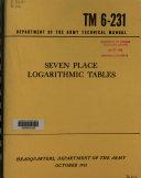 Pdf Seven Place Logarithmic Tables