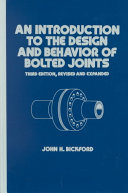 Pdf An Introduction to the Design and Behavior of Bolted Joints, Third Edition, Revised and Expanded