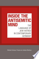 Image of book cover for Inside the antisemitic mind : the language of Jew- ...