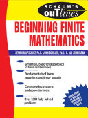 Schaum's Outline of Beginning Finite Mathematics